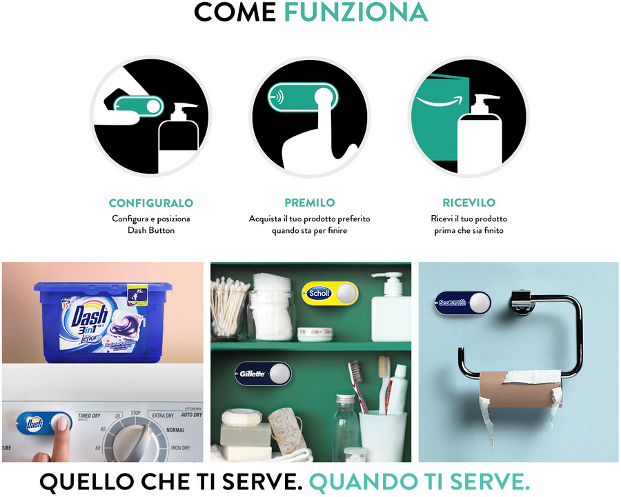 Dash Button Amazon in Italia