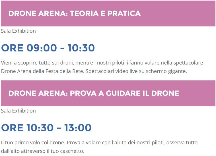 Luca Mercatanti Drone Arena Festa Della Rete 2016
