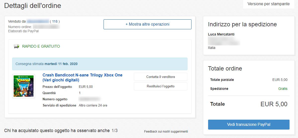 Condividere giochi Xbox One