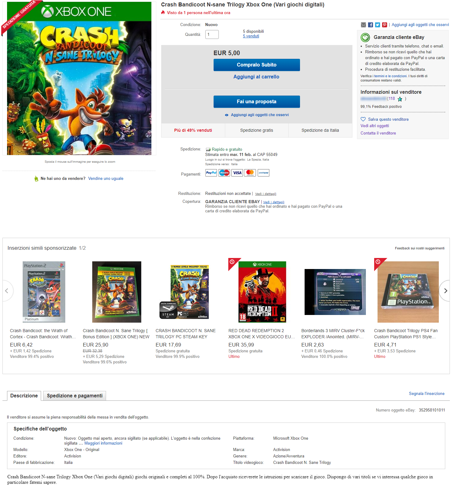 Giochi Xbox One gratis
